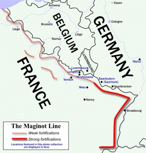 maginot line map of fortifications