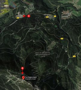 FKKTOURS map from bus station to kehlsteinhaus eagles nest